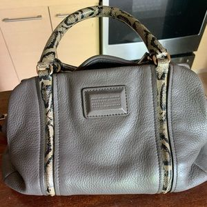 Grey and snake skin Marc by Marc Jacobs handbag